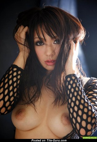Grand Asian Red Hair with Grand Naked Natural C Size Boobs (Xxx Image)