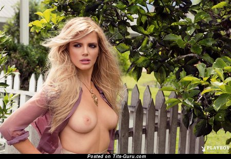 Stephanie Branton - Appealing Topless Canadian Playboy Blonde Babe with Appealing Exposed Real Mid Size Boobys & Pointy Nipples (Hd Porn Foto)