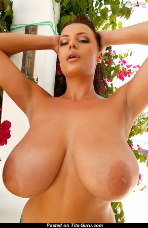 Elle Faye - Wonderful Glamour Brunette Babe with Wonderful Bare Natural G Size Boobie & Enormous Nipples is Undressing (Hd Sexual Photo)