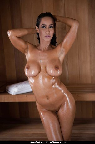 Isis Love - Hot Topless & Wet American Brunette Babe with Hot Bald Round Fake Mid Size Busts (Hd Xxx Pic)