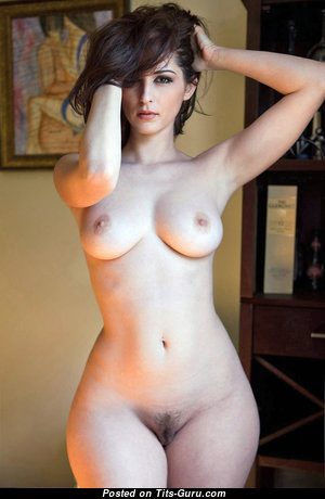 Graceful Brunette with Graceful Exposed Real Medium Sized Titties (Xxx Photo)