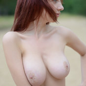 Rima - red hair with natural boob image