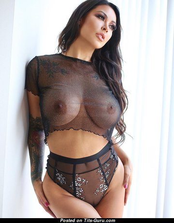Melissa Grace - Pleasing Glamour & Non-Nude Brunette Babe with Pleasing Medium Titty & Giant Nipples (Hd Sexual Image)