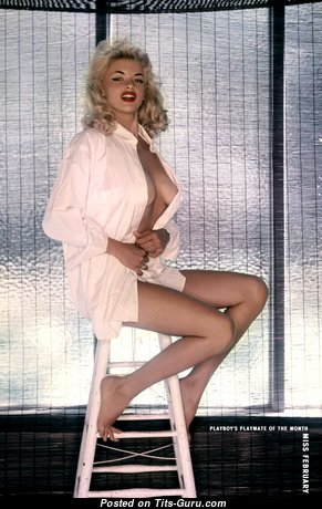 Jayne Mansfield - Stunning American Playboy Blonde Actress & Babe with Stunning Defenseless Real C Size Tit (Hd 18+ Image)
