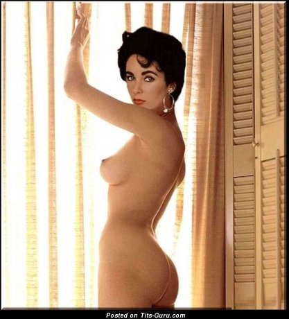 Elizabeth Taylor - The Best British, American Red Hair with Sexy Naked Real Very Small Tittes (Hd Porn Photo)