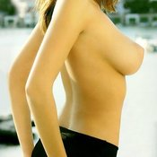 Keeley Hazell - brunette with big natural breast photo