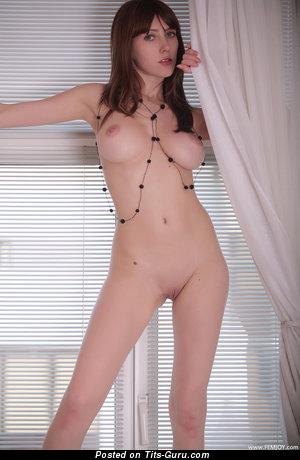 Alena Hemcova: sexy topless red hair with medium natural tits image