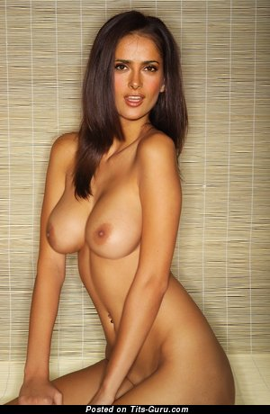 Image. Salma Hayek - nude nice lady with big natural tittys image
