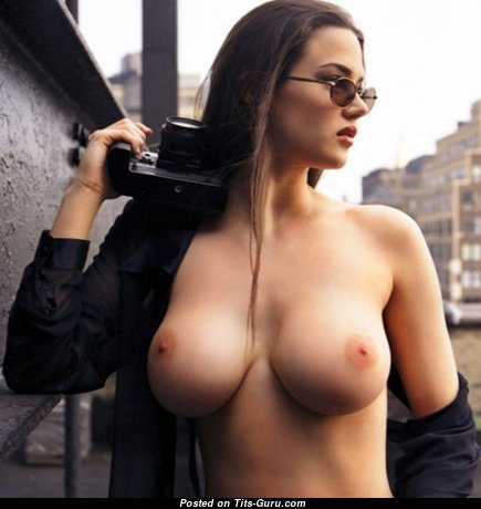 Fine Babe with Fine Bald Med Boobie (Sexual Image)