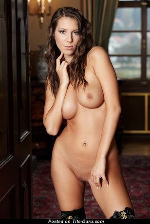 Nude wonderful woman with medium boobs image