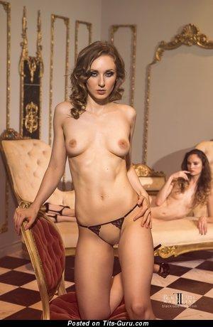Naked amazing lady with medium natural tots photo