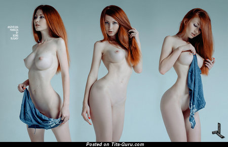 Anzhelika Markiza - Cute Red Hair with Cute Nude Mid Size Tittys (Hd 18+ Photo)