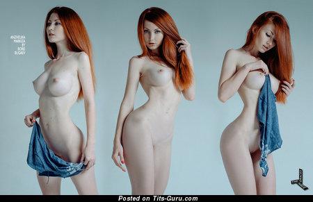 Image. Anzhelika Markiza - naked red hair with big tittes photo