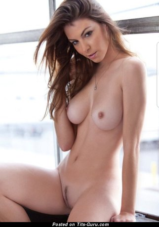 Stunning Brunette Babe with Stunning Naked Natural Normal Boobies & Long Nipples (Hd Xxx Wallpaper)