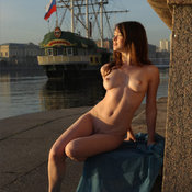 Wonderful girl with medium natural breast pic