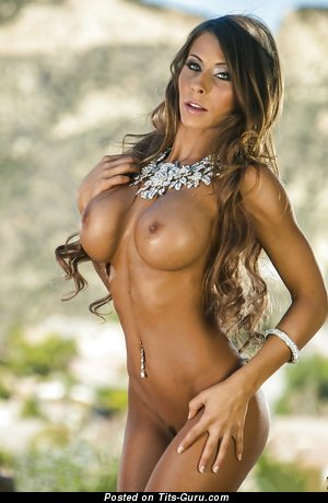 Image. Madison Ivy - nude blonde with big fake tittys photo
