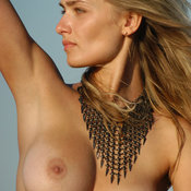 Uliya B - sexy naked blonde with medium tittys picture