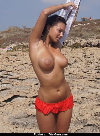 Image. Gabby - topless brunette with medium tittes pic
