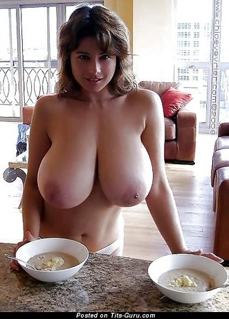 Image. Chloe Vervier - naked beautiful woman with huge natural breast photo