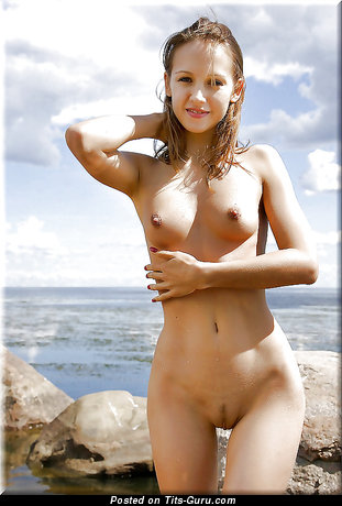 Image. Nude wonderful woman with medium natural breast image