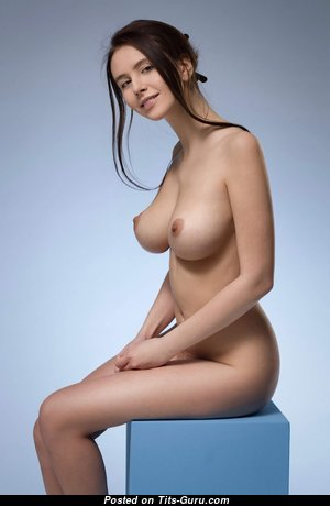Alisa - Appealing Topless & Glamour Brunette Babe with Appealing Nude Natural Regular Tots (Hd Xxx Photo)