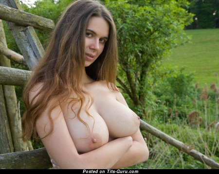 Image. Naked awesome female with big natural tittes pic