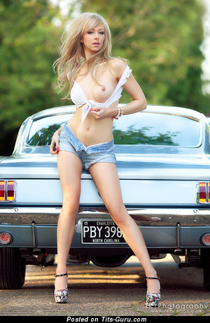 Image. Wonderful girl with medium natural breast image