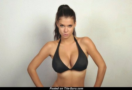 Tereza P. - Nice Non-Nude & Glamour Brunette with Nice Med Chest in Bikini (Home Hd Xxx Pic)