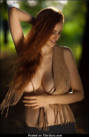 Image. Ameliya Noita - nude red hair with huge natural tittys picture
