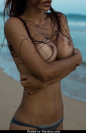 Image. Viki Odintcova - brunette with medium boobies photo