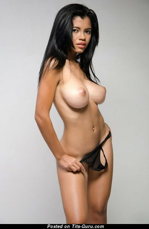 Image. Lea - nude latina brunette with big natural tits photo