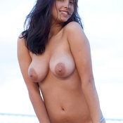 Busty Inez - beautiful girl with medium natural boobs photo