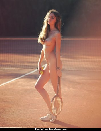 Anthea Page - Stunning Topless Australian Red Hair Babe with Stunning Open Natural Boobies, Large Nipples, Sexy Legs is Playing Tennis (Hd Xxx Pix)
