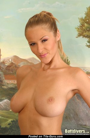 Jane Darling - Alluring Czech Blonde Pornstar with Alluring Nude Natural Tight Boobie is Getting Orgasm (Porn Photo)
