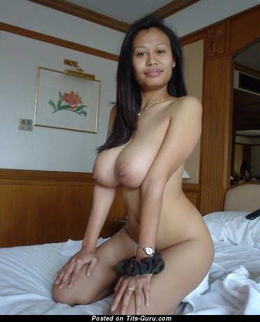 Image. Naked asian with big natural breast picture