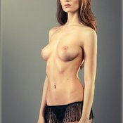 Beautiful woman with medium natural breast pic