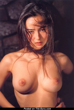 Beautiful Asian Brunette Babe with Beautiful Nude Natural Regular Boobies (Vintage 18+ Pic)