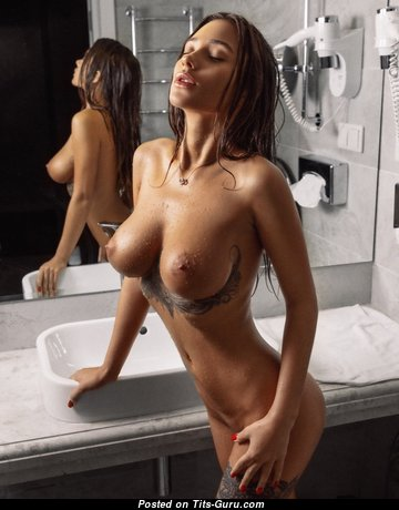 Liya Silver (кристина Щербинина) - The Best Wet Pornstar with The Best Bare Firm Knockers & Tattoo (Porn Image)