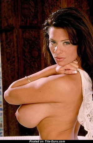 Linsey Mckenzie - Charming Topless Brunette Strippers, Babe & Pornstar with Charming Naked Natural Soft Titties & Large Nipples is Undressing (Vintage Xxx Wallpaper)