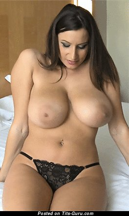 Sensual Jane - sexy nude brunette with big natural boob and big nipples gif