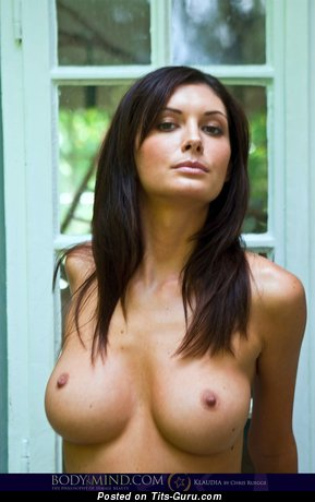 Image. Orsi Kocsis - sexy naked brunette with medium tots pic