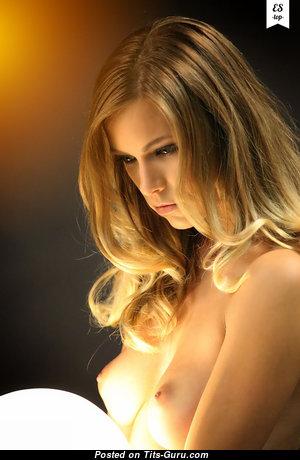 Wonderful Blonde with Wonderful Defenseless Short Tit (Hd 18+ Pix)
