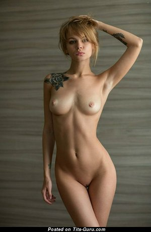 Image. Sexy topless amateur blonde image
