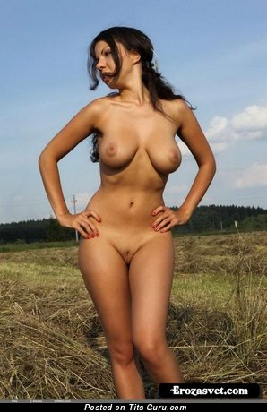 Image. Nude awesome female with big natural breast pic