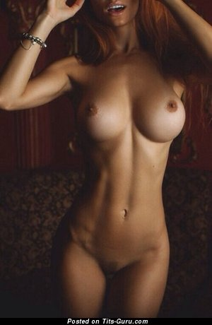 Naked hot female with big fake tittes picture