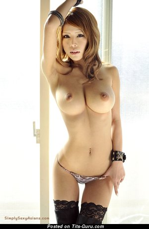 Image. Haruka Sanada - sexy topless asian with medium boob photo
