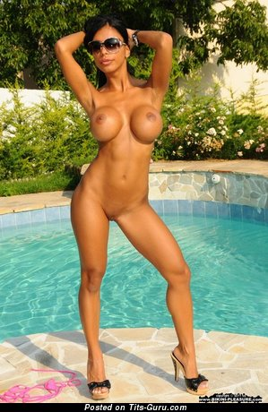 Image. Nude hot lady with big fake breast pic