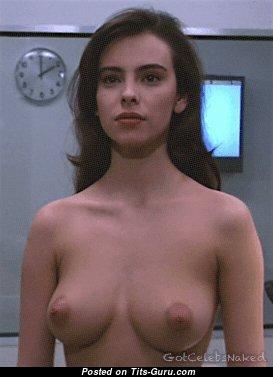 Splendid Topless Brunette (Sex Gif)