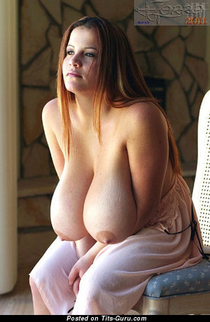 Image. Naked beautiful lady with huge natural boobies image