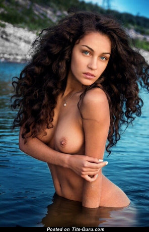 Image. Sexy naked amazing female with natural boobies pic